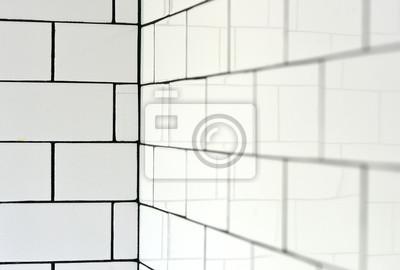 white vintage metro fliesen und schwarzen fugenm rtel in einem fototapete fototapeten verfugen. Black Bedroom Furniture Sets. Home Design Ideas