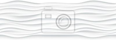 Fototapete White wellig Panel nahtlose Textur Hintergrund.