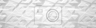 Fototapete White Wide Futuristic Hintergrund (3d illustration)