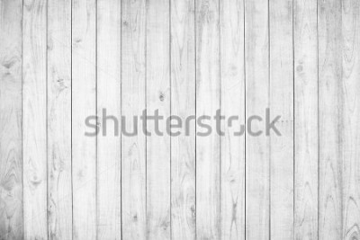 Fototapete White wood texture background