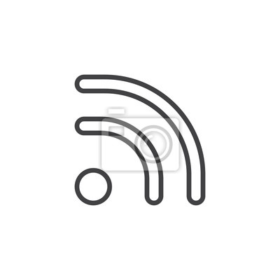Wi-fi-signallinie ikone, entwurfsvektorzeichen, lineares ...
