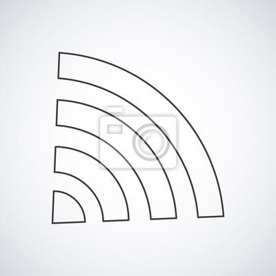 Wi-fi-symbol wireless-verbindung silhouette mit schatten, form ...