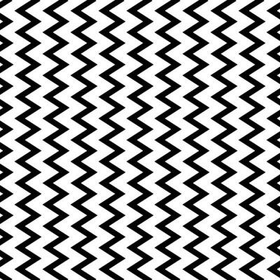 Fototapete Wiederholbare wellenförmige, vertikale Zickzacklinien parallel.