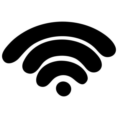 Wifi signal. Silhouette. Spray wireless internet. Access to the network. Vector illustration. Contour on an isolated white background. Flat style. Sketch. Online Symbol. Distance. Illustration for web