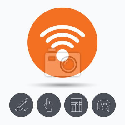 Wifi-symbol. drahtlose internet-zeichen. fototapete • fototapeten wi ...