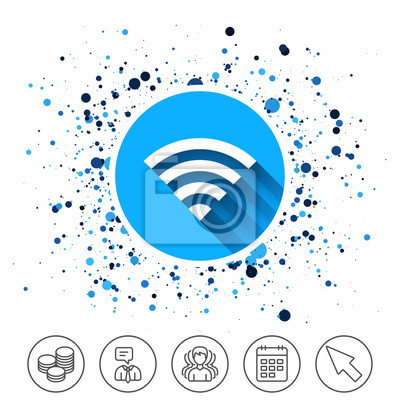 Wifi-zeichen. wi-fi-symbol. drahtloses netzwerk. fototapete ...
