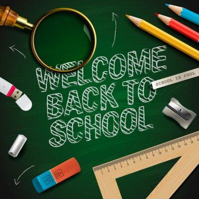 Fototapete Willkommen zurück in die Schule, Vektor-Illustration eps10.