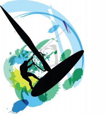 Wind Surf Illustration