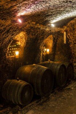 Fototapete wine cellar in Velka Trna, Tokaj wine region, Slovakia