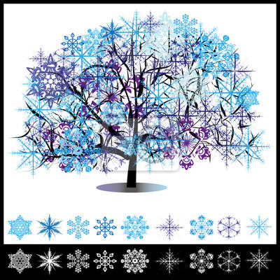 Fototapete Winter Baum