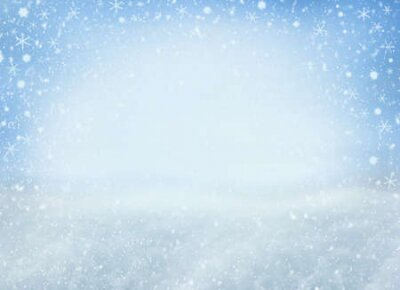 Fototapete Winter Christmas background with falling snowflakes. Background for design with copy space