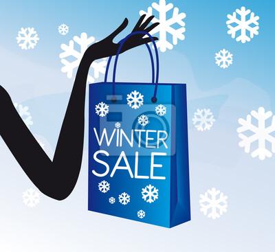 Winter einkaufen Verkauf