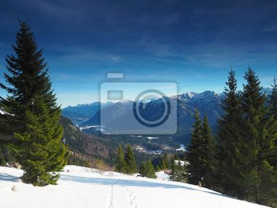 Winter In Den Ammergauer Alpen Fototapete Fototapeten Myloview De