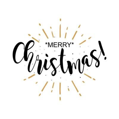 Frohe Weihnachten Text Karte.Fototapete Winter Karte Frohe Weihnachten Schone Gruss Poster Mit Kalligraphie