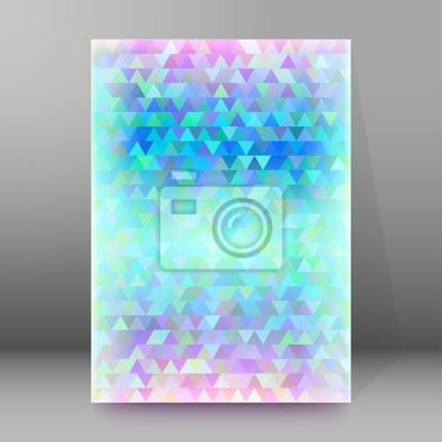 Winter Mosaik Dreiecke Deckblatt Broschüre Hintergrund Fototapete