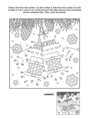 Atemberaubend Verbinde Die Punkte Malvorlagen Weihnachten ...