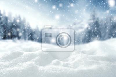 Fototapete Winter-Raum des Schnees