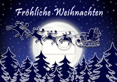 Winterliche Weihnachtsgrüße.Fototapete Winterliche Weihnachtsgrüße