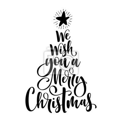 Wir wünschen ihnen einen frohe weihnachten kalligraphie text ...