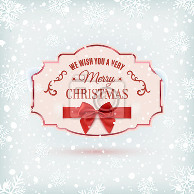 Wir wünschen ihnen frohe weihnachten. fototapete • fototapeten ...