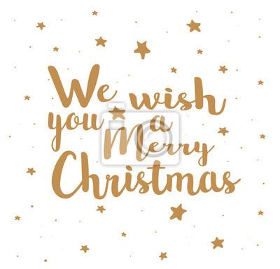 Wir wünschen ihnen frohe weihnachten auf einem weißen hintergrund ...