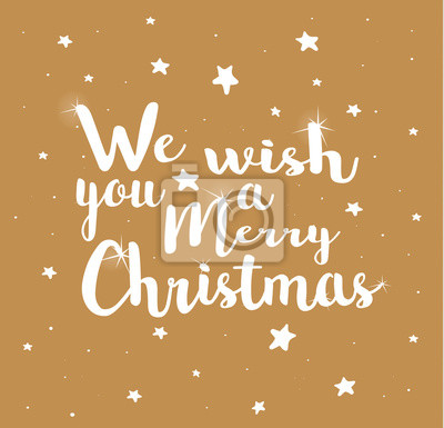 Wir wünschen ihnen frohe weihnachten auf goldenem hintergrund ...