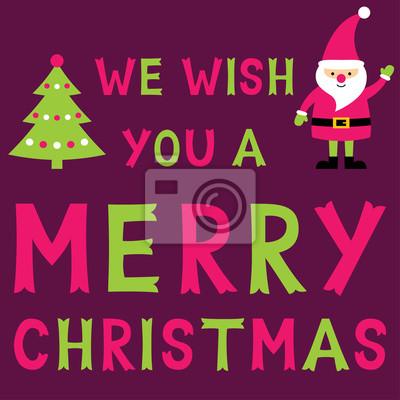 Wir wünschen ihnen frohe weihnachten, grußkarte mit sankt, text ...