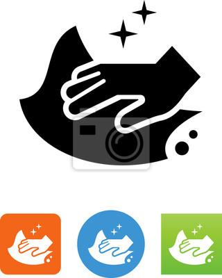 Vektor-Illustration - A, mädchen, putzen, boden. Stock Clipart gg63140876 -  GoGraph