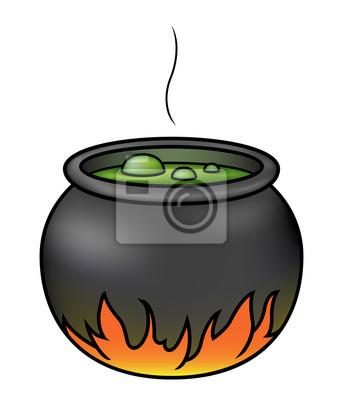 Witches brew in einem kessel fototapete • fototapeten scarey, wicked ...