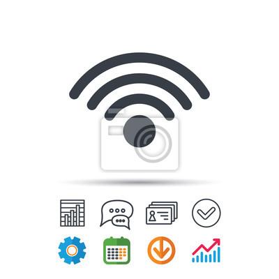 Wlan-symbol. drahtloses internet zeichen. fototapete • fototapeten ...