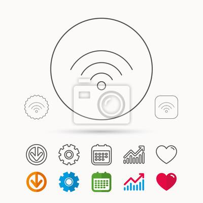 Wlan-symbol. wireless wi-fi-netzwerk zeichen. fototapete ...