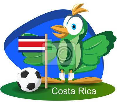 WM-Maskottchen 2014 Costarica-Team-Flagge
