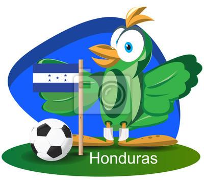 WM-Maskottchen 2014 mit Honduras-Team-Flagge