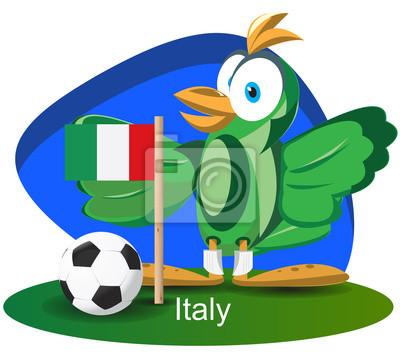 WM-Maskottchen 2014 mit Italien-Team-Flagge