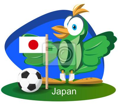 WM-Maskottchen 2014 mit Japan Team-Flagge