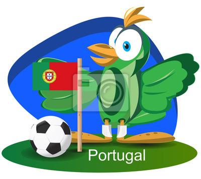 WM-Maskottchen 2014 mit Portugal-Team-Flagge