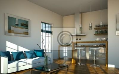 Fototapete Wohndesign Kuche Weiss Mit Sofa