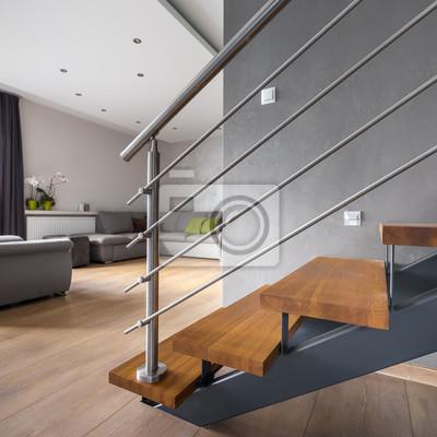 Wohnung Im Erdgeschoss Mit Treppe Fototapete Fototapeten