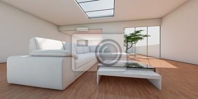Fototapete: Wohnzimmer am baum v2