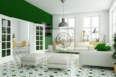 Wohnzimmer gelb grün fototapete • fototapeten appartment ...