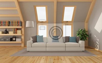 Fototapete Wohnzimmer Im Dachgeschoss