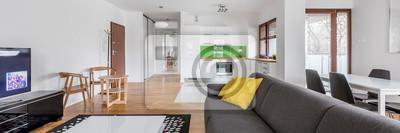 Wohnzimmer Mit Grauer Couch Fototapete Fototapeten Appartment