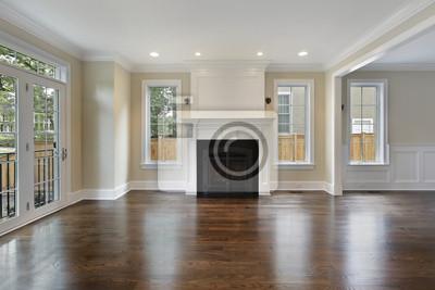Wohnzimmer mit kamin fototapete • fototapeten Innenräume, S ...