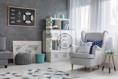 Fototapete Wohnzimmer Mit Nautischem Dekor