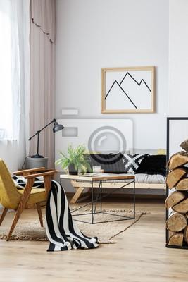 Sofa Wohnzimmer, wohnzimmer mit sofa und sessel fototapete • fototapeten appartment, Design ideen