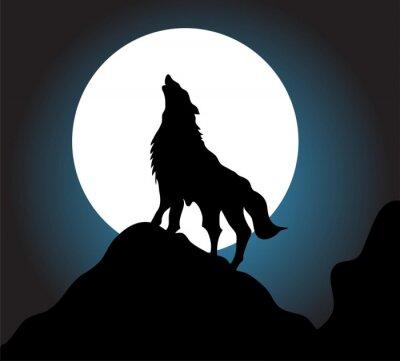 Fototapete Wolf heulen Hintergrund