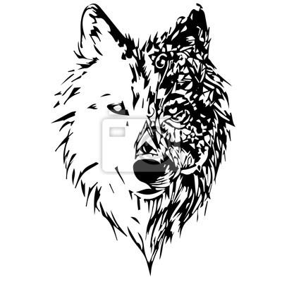 Fototapete wölfe