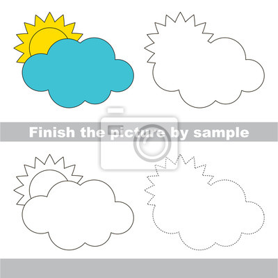 Wolke. zeichnung arbeitsblatt. fototapete • fototapeten Tutorial ...