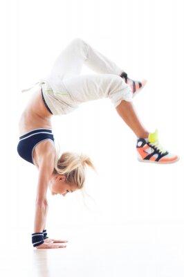 Fototapete Woman Breakdance