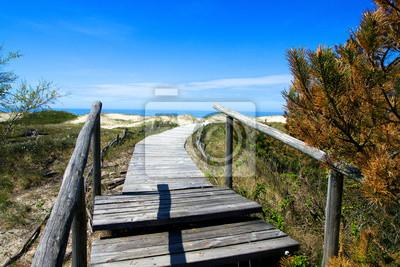 Wooden Weg zum Strand